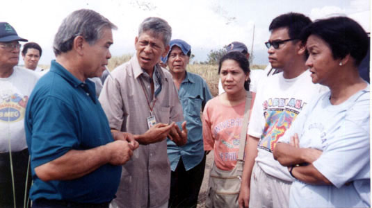 Talking to local government officials in Isabela