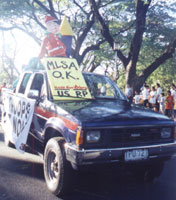 CONTEND-UP's float, Lantern Parade 2002, UP Diliman Academic Oval