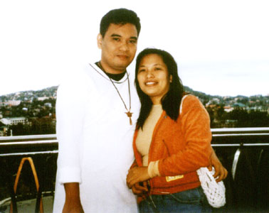 Joy and I at the SM City Baguio (25 July 2004)