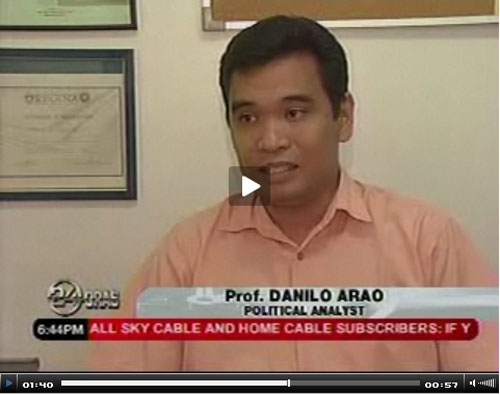 That's me on 24 Oras (GMA 7, April 16, 2008); click image to go to my personal blog