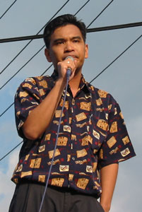 Speaking at a rally, 17 June 2002