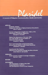 Plaridel (A Journal of Philippine Communication, Media and Society